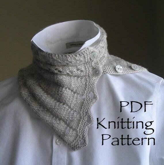 Knitting Pattern PDF - A Walk on the Beach Cowl Scarf - neckwarmer cowl scarf...