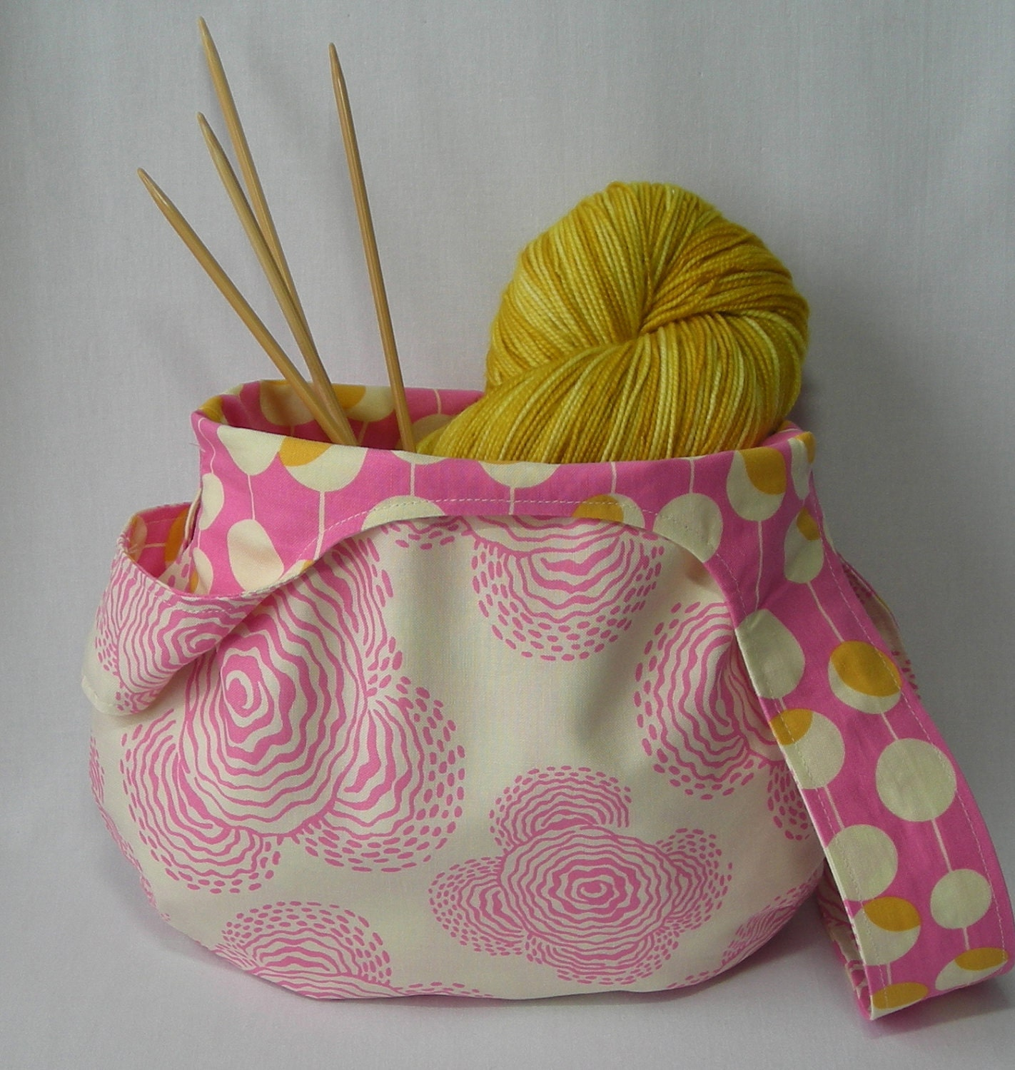 Knitting Project Bag Sewing Pattern : Knitting Project Bag Crochet Amigurumi Project Bag