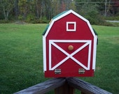 Mailbox~Handmade Wooden Mailbox~Wooden Barn Style Mail  Box with Flag and House Number~Housewarming Gift~Barn Style Mailbox~Business Mailbox