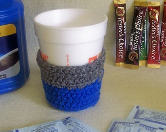 Coffee Cozies~Cup Cozies~Crochet Coffee Cup Cozy~Handmade with Yarn~School Fund Raisers~Wholesale~Ready to Ship~Drink Cozies~Fundraisers
