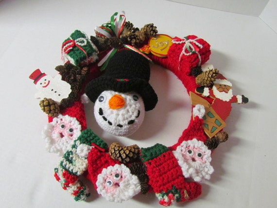 Crochet Christmas Wreath End of Inventory Sale