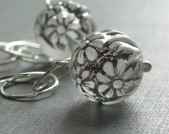 daydream - handmade earrings, vintage lucite and sterling