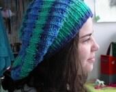 PDF Knitting Pattern - Eyelet ribbed dread tam