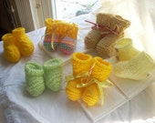 BABY SHOES (SET OF SIX PAIRS) YELLOW FOR BOY OR GIRL