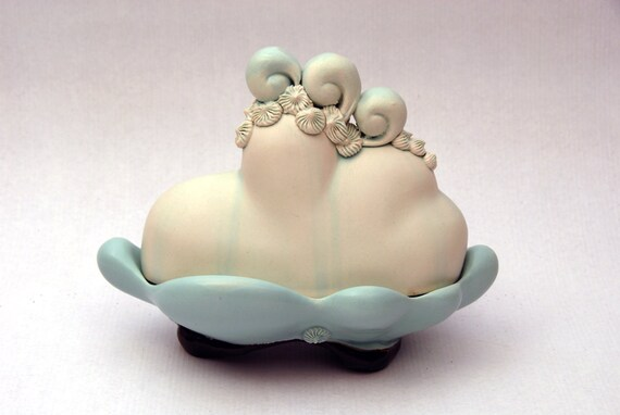 Turquoise Cloud with Mohawk Butter Dish