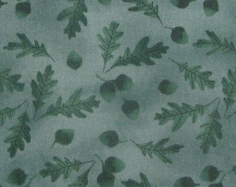 FABRIC emerald green fall autumn fabric MEASURES 36 INCHES BY 1.25 YARDS