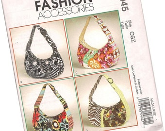 MCCALLS FASHION accessories PATTERN m6045 ladies purses by Kay Whitt Design, four styles, new and uncut