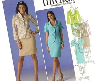 SIMPLICITY PATTERN 2452 Threads magazine collection. ladies suit, jacket and skirt, sizes 6, 8, 10, 12, 14, new and uncut