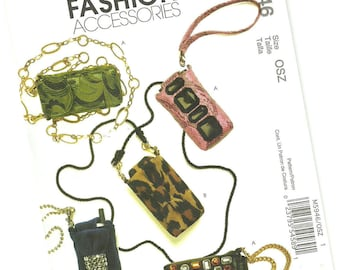 MCCALLS FASHION ACCESSORIES pattern m5946 cell phone, mp3 player, and personal planner cases, new and uncut