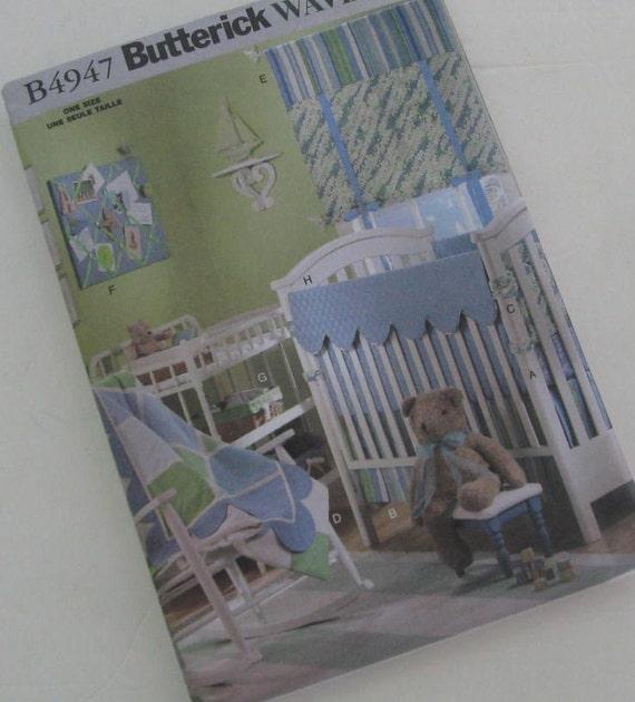 Butterick Pattern B4947 Crib Set Baby Bedding Nursery Valances