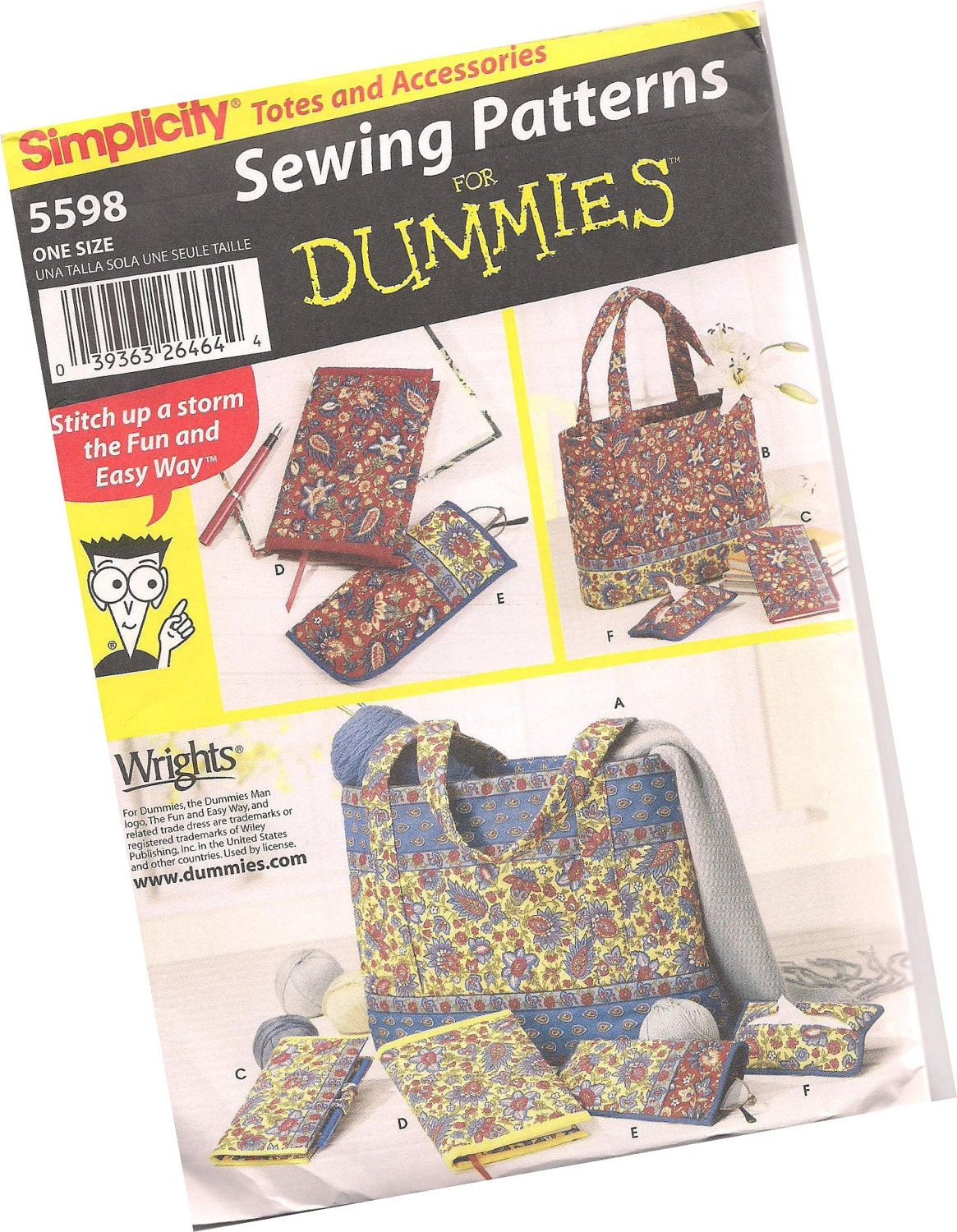 Quilted Paperback Book Cover Pattern : Simplicity pattern quilted tote bags eyeglass case