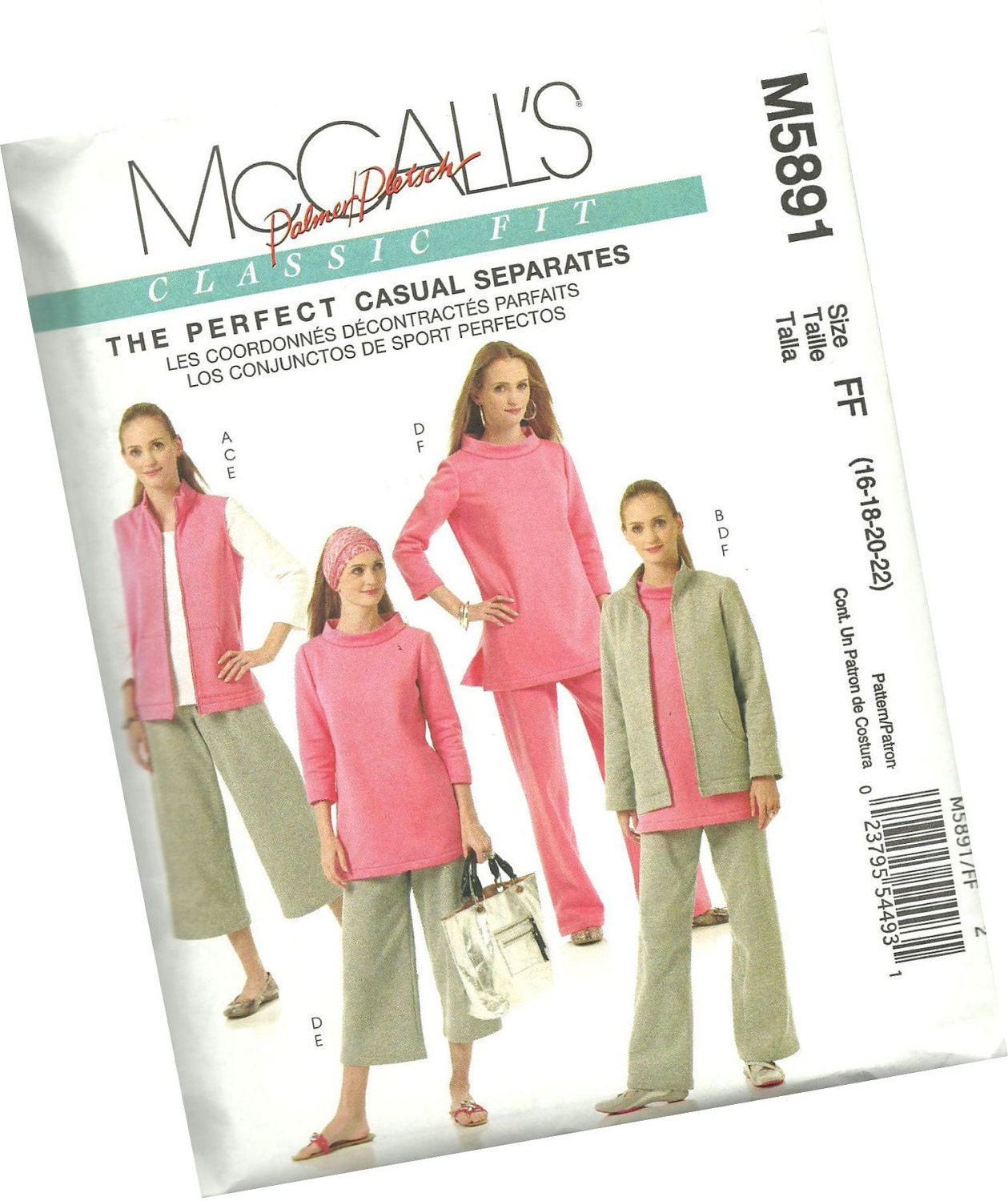 Amazon.com: McCall's Patterns M5357 Misses' Tops, Shorts and Capri