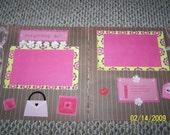 12x12 Scrapbook 2 Page Layout Its a Girl Thing
