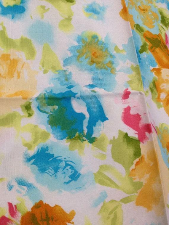 Beautiful Watercolor Flower Garden Fabric - 1 Fat Quarter