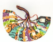 Spook Tacular Halloween Themed Medium Scallop Die Cut Tags (24)
