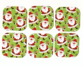 CLEARANCE SALE 50 Off - Jolly Santas Mini Note Cards (6) Priced as Marked