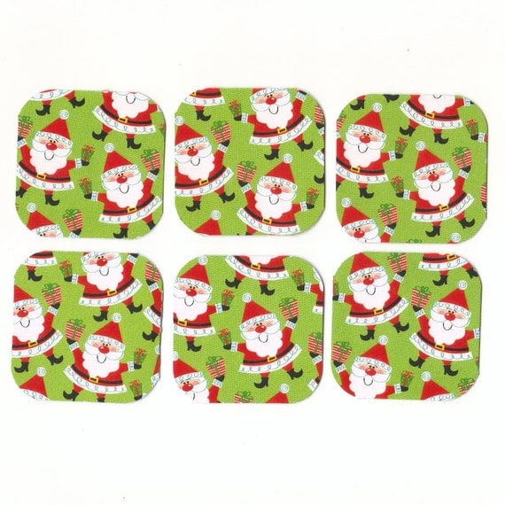 CLEARANCE SALE 50 Off - Jolly Santas Mini Note Cards (set of 6) Priced As Marked