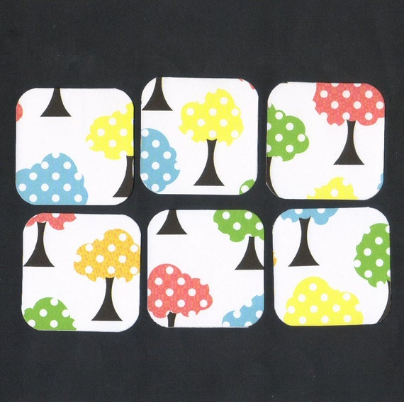 SALE - Polka Dot Trees Mini Note Cards (set of 6) CLEARANCE