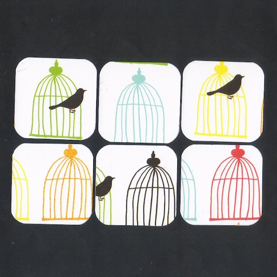 Bird Cages Mini Note Cards (set of 6) MOVING CLEARANCE SALE
