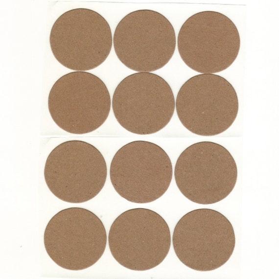 Kraft Brown Envelope Seals Stickers (24) Package Decor 1.5 inch