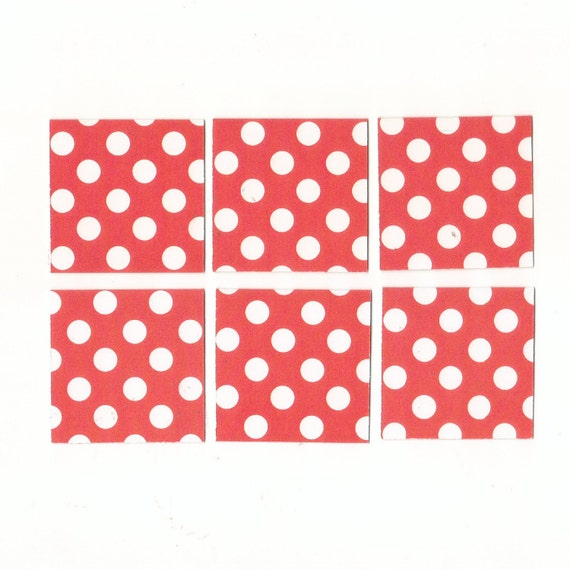 Hot Pink with White Polka Dots Mini Note Cards, Gift Cards, Mini Notes (Set of 18)