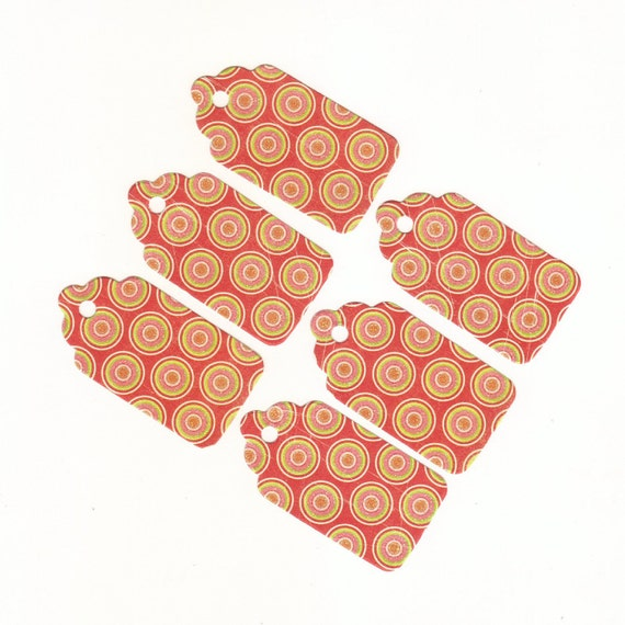 Under One Dollar Clearance - Medium Scallop Die Cut Gift Hang Tags (20) Set 1