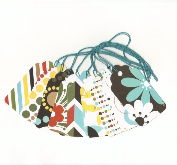CLEARANCE SALE 50 Off - Assorted Large Scallop Die Cut Gift Hang Tags (Set of 9) (A3) Priced As Marked