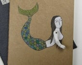 mermaid-large ruled moleskine cahier journal