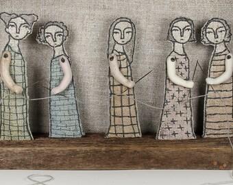 hand embroidery diorama- common thread textile art fiber art