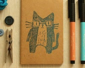 Nerdy Cat Printed Moleskine Notebook small
