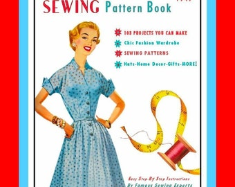 1940s- Sewing Pattern Book-Over 100 Items To Make- PATTERNS Included- Retro Fashions-Fabulous Accessories-Toys-Hats-Aprons-PDF