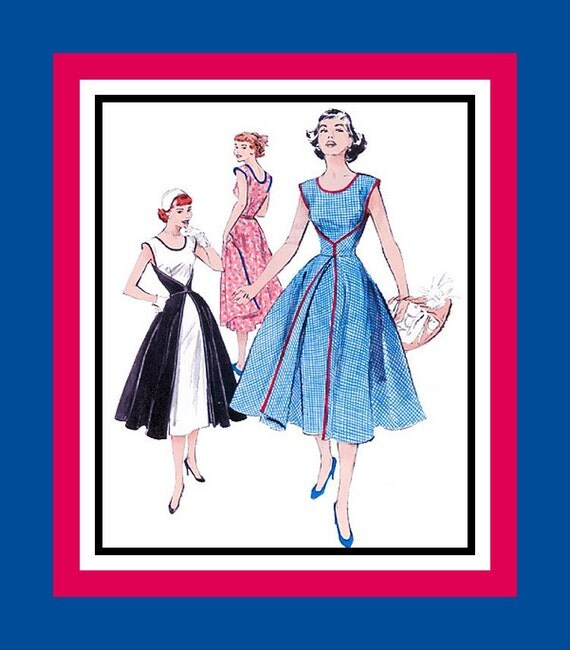 Vintage 1950s -Famous Walk Away Wrap Dress -Sewing Pattern -ORIGINAL-Easy To Make- A Dream To Wear-Uncut -Size 12 - Rare - Collectible