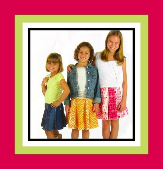 Girly Gored Swing Skirt -Indygo Junction Sewing Pattern -Toddler & Girl Sizes- 2 -10- Fun To Wear-  Easy To Make