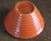 Bauer Pottery Bowl Ring Pattern No. 24  Orange
