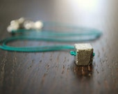 G O L D  - Pyrite stone hand knotted necklace