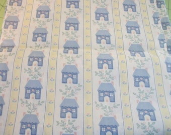 Fabric Country House Cotton Yellows Blues Pinks