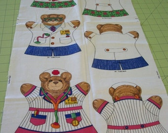 Fabric Doctors Nurse Hand Puppet Childrens Fabric