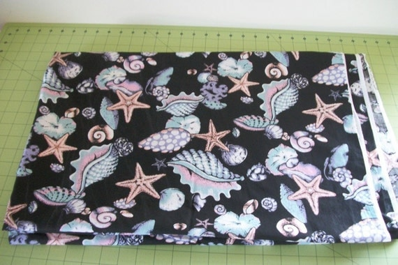 Fabric Cotton Sea Shells Fabric Country Fabric Yardage Sewing Quilting