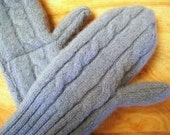 Custom Recycled Sweater Mitts Mittens from Your Wool Sweater