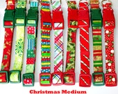 Christmas in July PIF Potluck Christmas Dog Collar Size Medium