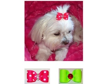 Top Knot Bow Tutorial PDF, Pet Hairbow--Step by Step How to Instructions--Instant Download