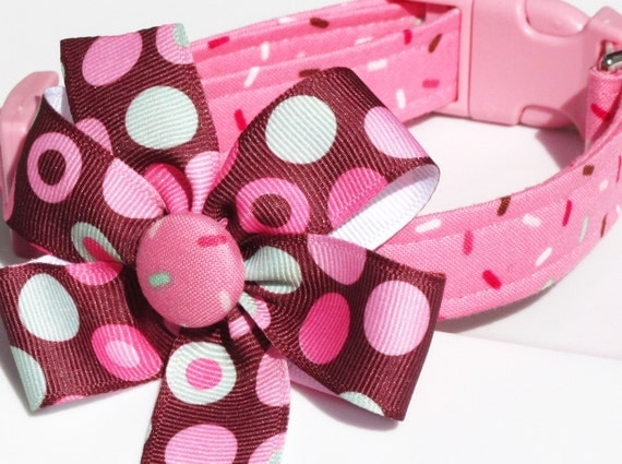 SALE Sprinkles on Top Adjustable Dog Collar--Size XSmall Only