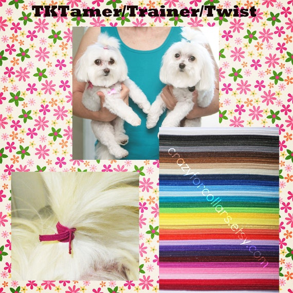 10 Top Knot Tamers for your Dog's Hair--TKTamer, Dog Hair Bow Alternative, No Rubber Bands