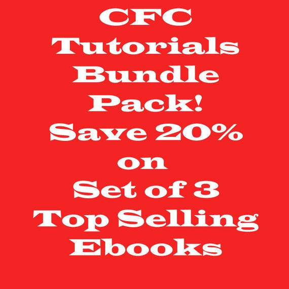 Bundle Pack, Save 20% on the CFC Top Selling Ebooks/Tutorials