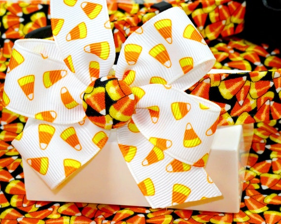 Halloween--Crazy Candy Corn Dog Collar with Bow, Choose Your Size