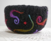 Needle Felted Wool Art  Bowl 5 inches diameter at the top