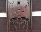 1928 Bosch Radio Cabinet Wooden Face plate piece
