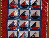 Ships Ahoy Sailboat Baby Quilt Pattern