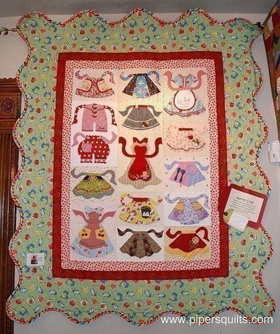 Items similar to Apron Club Applique Quilt Pattern on Etsy