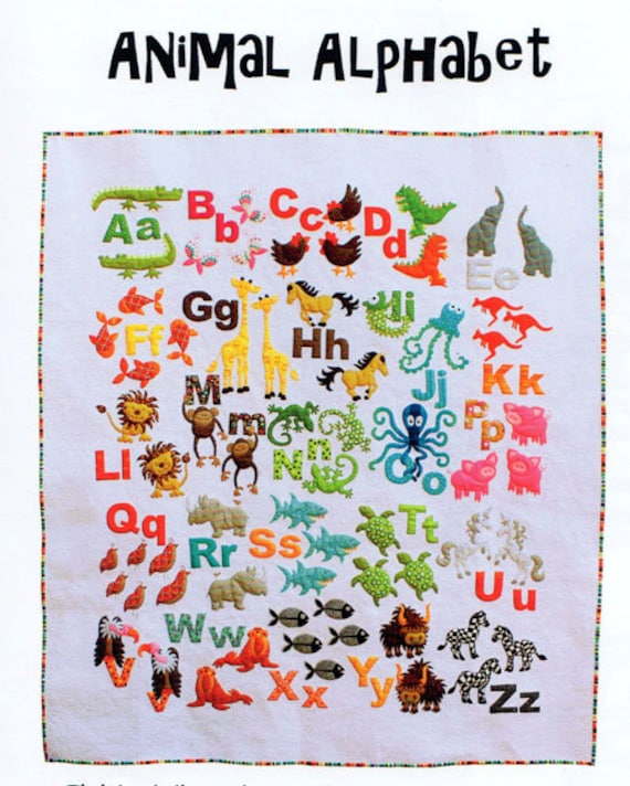 Animal Alphabet Quilt Pattern by Dont Look Now